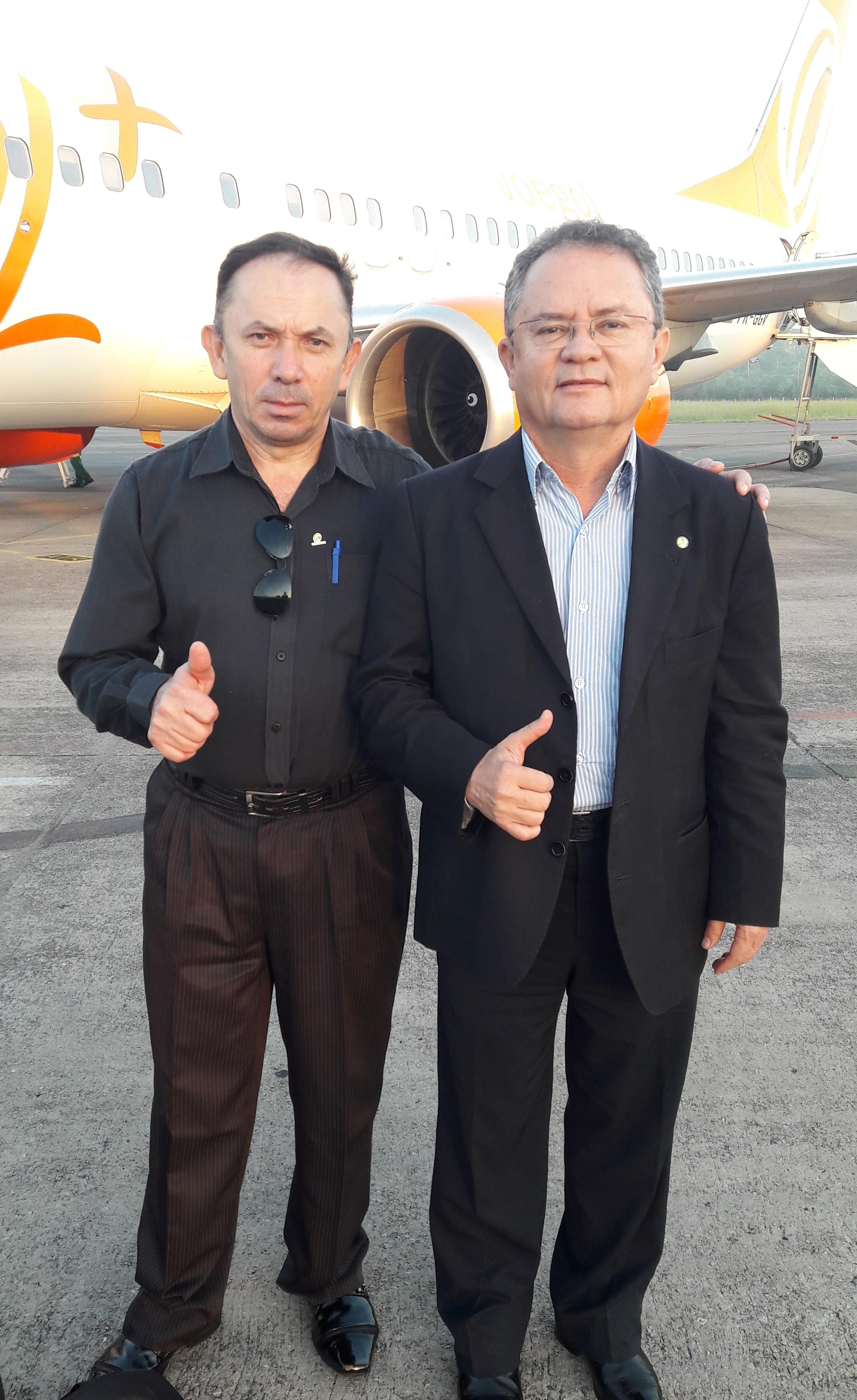 Presidente da COOMIGASP e o Vice Governador do Estado do Pará